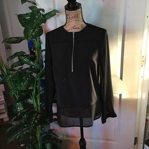 Michael Kors Black Long sleeve Blouse Size 2 Small